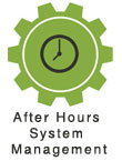 CMS after hours system management